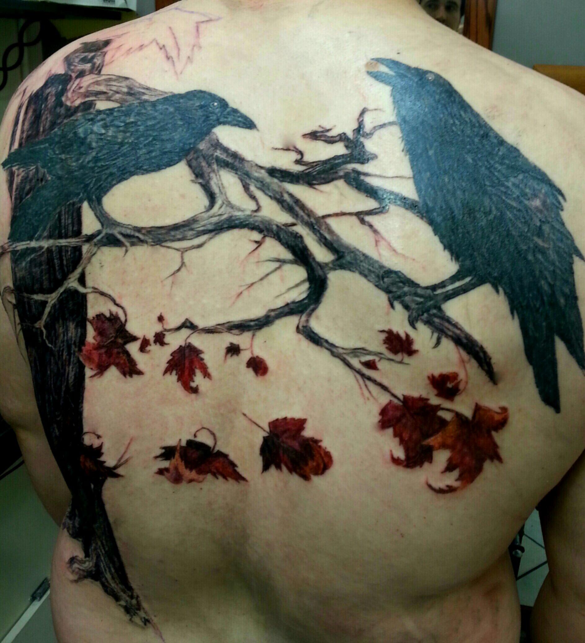 huginn muninn tattoos by moreah